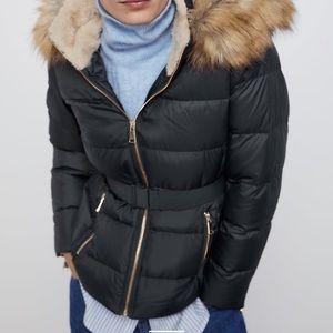 Belt Puffer Coat